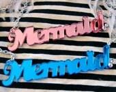 Mirror Acrylic Mermaid Necklace