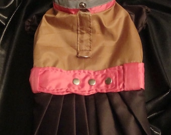dog pet rainproof  coat - made to measure for a perfect  fit