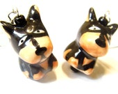 Sale Save 10% Doberman Porcelain Earrings Jewellery kawaii Earrings