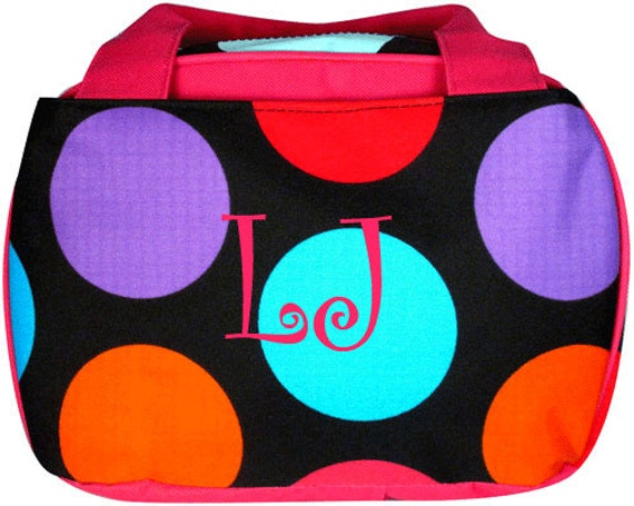 BIG Dot Insulated Lunch Tote Includes Monogram