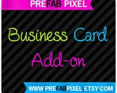 Business Card Design Add On - Made to Match - You Print