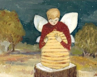 gregory hoped they would tell him what to do - print of original oil painting