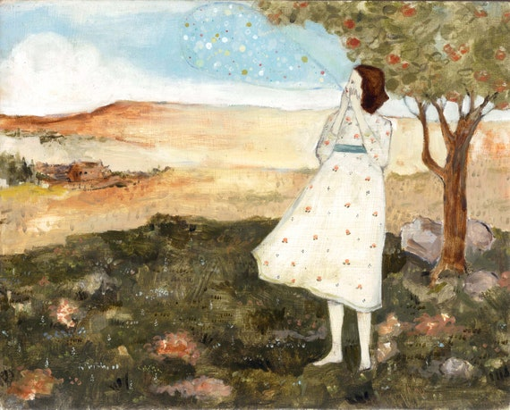 her secrets were beautiful - limited edition print of original oil painting