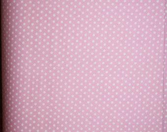 One Yard Benartex Girl Talk 4051-8 Pink with white polka dots