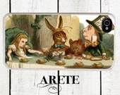 iphone 6 case Alice in Wonderland iPhone case, Mad Hatter Tea Party in Color, fits iPhone 4, 4s - iPhone 5 Case - Galaxy s3 s4 s5