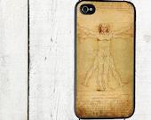 Vitruvian Man Phone Case, Da Vinci iPhone Case, for iphone 5, iphone 5s, iphone 5c, iphone4, iphone 4s, samsung galaxy s3, samsung galaxy s4