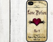 Love Potion iPhone Case iPhone 4 and 4s Cover - iPhone 5 Case - Valentine's Day - to find a man