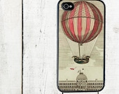 iphone 6 case iPhone 4 Case - Cell Phone Case - Vintage Red Hot Air Balloon - iPhone 5 Case - Galaxy s3 s4 s5