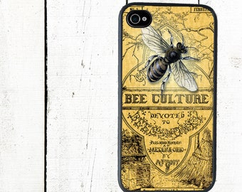 Vintage Bee Phone Case for  iPhone 4 4s 5 5s 5c SE 6 6s 7  6 6s 7 Plus Galaxy s4 s5 s6 s7 Edge