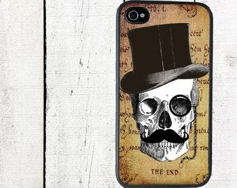 Gentleman Skull Phone Case for iPhone 4 4s 5 5s 5c SE 6 6s 7  6 6s 7 Plus Galaxy s4 s5 s6 s7 Edge