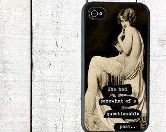iPhone Case, iPhone 4 4s , Flapper, She Had Somewhat of a Questionable Past - iPhone 5 Case