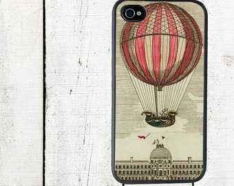 Vintage Red Hot Air Balloon Phone Casesfor iPhone 4 4s 5 5s 5c SE 6 6s 7  6 6s 7 Plu Galaxy s4 s5 s6 s7 Edge
