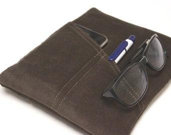 iPad Pro Case iPad Air 2 Sleeve Men's iPad mini Case Padded Custom Fit Multi Pocket Case - Brown Corduroy