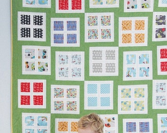 SALE - Looking In quilt pattern from Cluck Cluck Sew - crib, throw, twin and queen sizes included