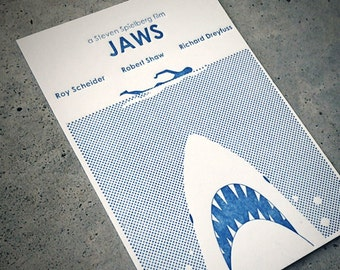 Letterpress JAWS Print - Limited Edition