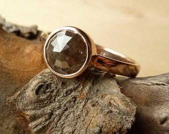 Large Chocolate Rose Cut Diamond Ring - Deposit