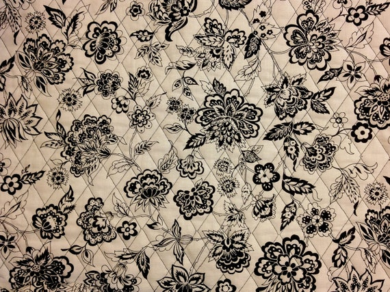Quilted Black Amp White Fabric Double Sided Pre Quilted