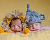 newborn cowardly lion hat photography prop wizard of oz