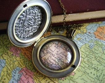 Germany  Map Locket  Necklace