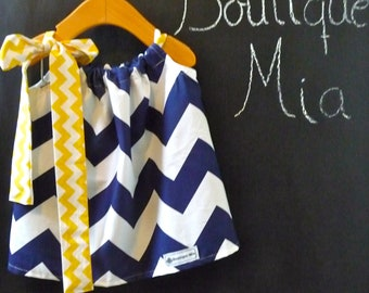 Pillowcase DRESS - Chevron - 2 Years of Fashion - Pick the size Newborn up to 12 Years - by Boutique Mia