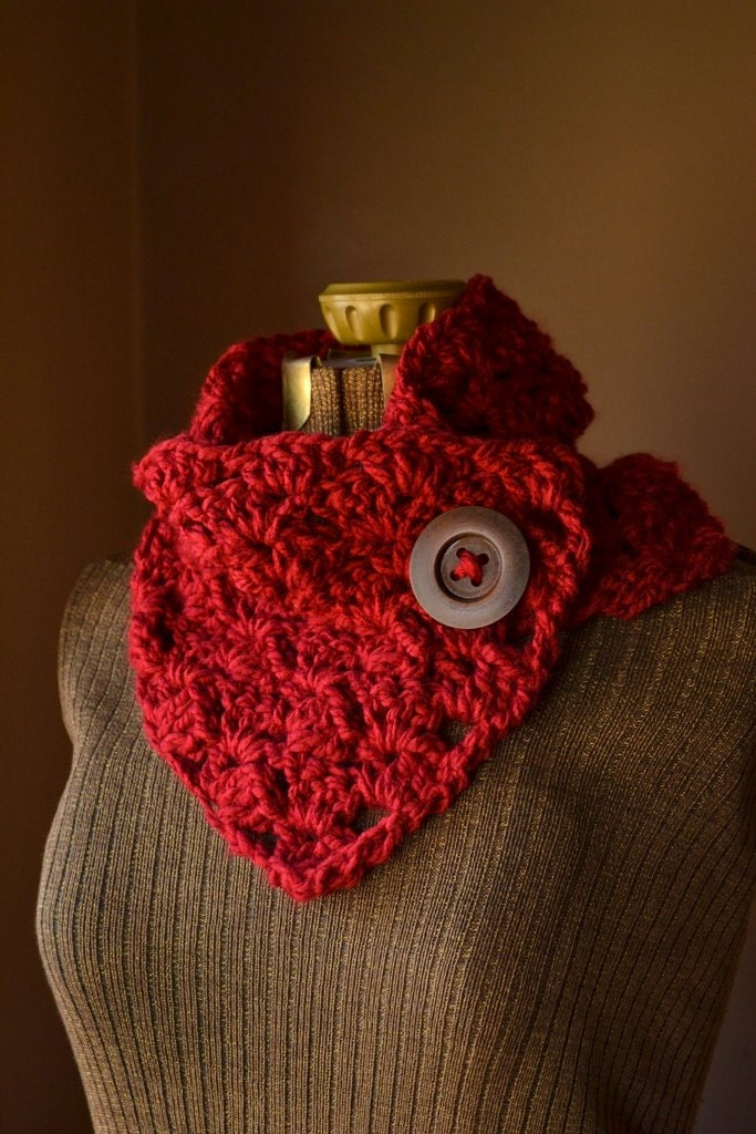 button scarf neck warmer cowl custom button scarf by