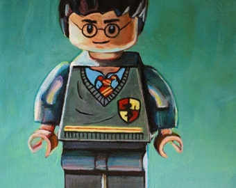 Harry Potter Toy Figure Giclee Print of Original Painting 8x10