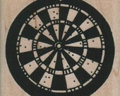 Dart Board  rubber  stamps     wood mounted 2255