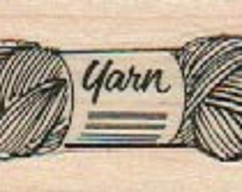 Rubber stamps stamping yarn rubber stamp  17961  knitting skein ball