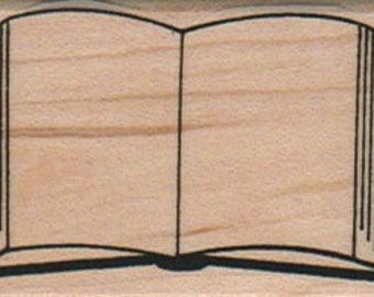 Rubber stamp  Open book journaling  wood Mounted  scrapbooking supplies number 9043