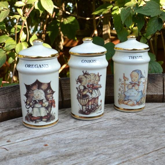 Three M J Hummel Spice Jars 1987