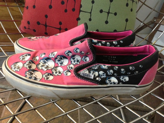 Vans Slip On Pink Skull Shoes Us Men S 8 5 Us Women S