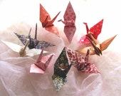 9 Wedding Party Favors Origami Peace Cranes Kimono Traditional