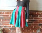 Two toned circle skirt