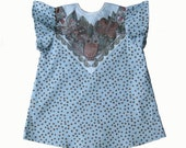 owl print polka dot baby toddler top Ready to Ship with FREE SHIPPING