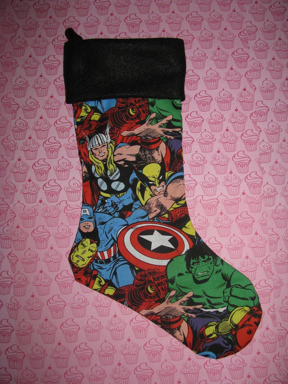 AVENGERS Christmas Stocking Holiday Decor Comic Superhero