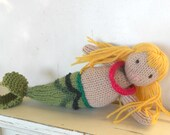Eco Kids Toy - Mermaid Doll- All Natural - Eco Friendly Toy, Custom Order