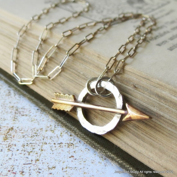 Order of the Arrow Necklace in Sterling Silver and Brass