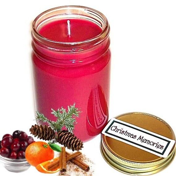 christmas memories mason jar candle holiday scent 12 oz. Black Bedroom Furniture Sets. Home Design Ideas