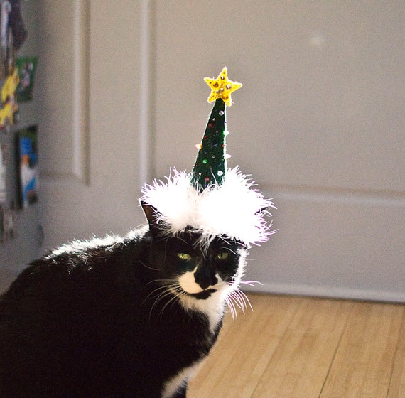 Christmas Tree Made Of Black Cats: Items Similar To Christmas Tree Cat Hat On Etsy