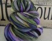 NIGHT VINE  handspun thick and thin yarn -  photo props