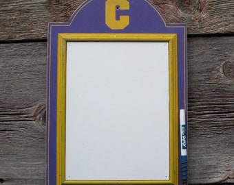 Caledonia Fighting Scots Marker Board purple and yellow dry erase