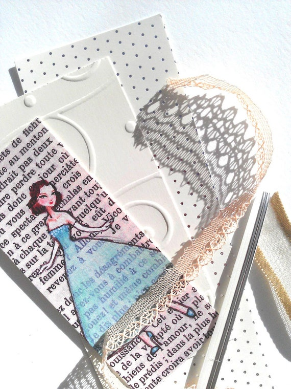 Little Parisian Lady Bookmark - Craft your own