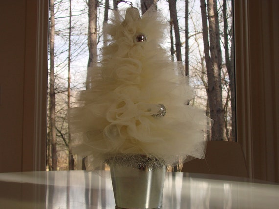 Elegant Tulle Christmas Tree Table Decoration Table Top