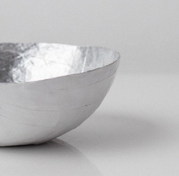 Small Silver Paper Bowl