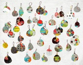 Decembre - Art - Print of an original illustration - Color Print - Drawing - Christmas Balls - Children room decor