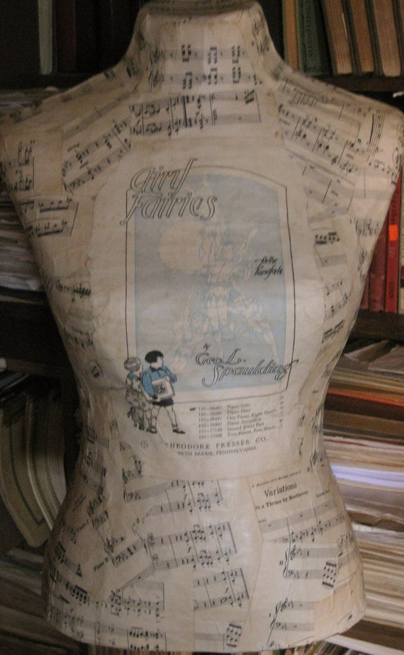 The Airy Fairy Paper Mache Dress Form