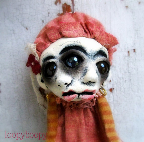 Creepy Christmas Ornament Art Doll Decoration Jaycee Island of the MisFit Orphans