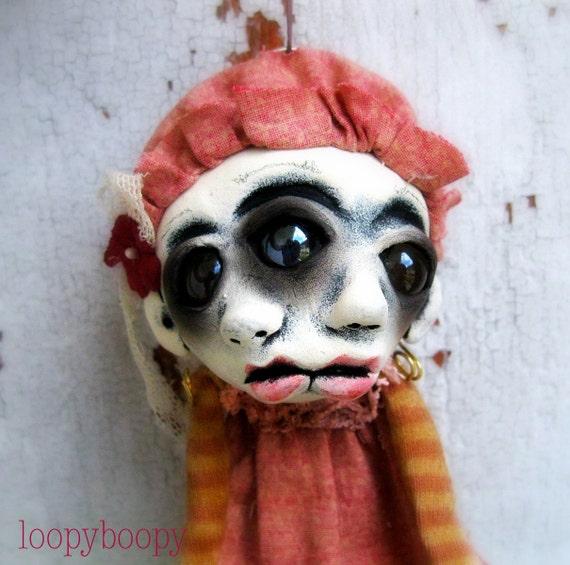 Creepy Christmas Ornament Art Doll Decoration Jaycee Island of the MisFit Orphans