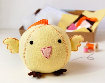 Make Your Own Chick Fattie Toy Kit - Sewing Kit