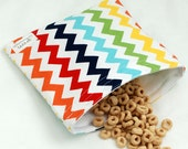 Chevrons (Rainbow) - Medium Reusable Sandwich Bag from green by mamamade